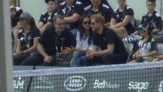 Prince Harry, Meghan Markle make public debut as couple at Invictus Games