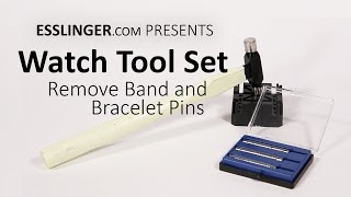 Watch Tool Set to Remove Band and Bracelet Pins & links