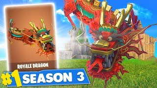 SECRET FORTNITE LEGENDARY GLIDER! NEW ROYALE DRAGON GLIDER! (Fortnite Battle Royale)