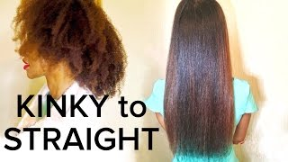 Mum & I Get Our 4C Natural Hair Straightened (Blow out + Flatiron  (VLOG)