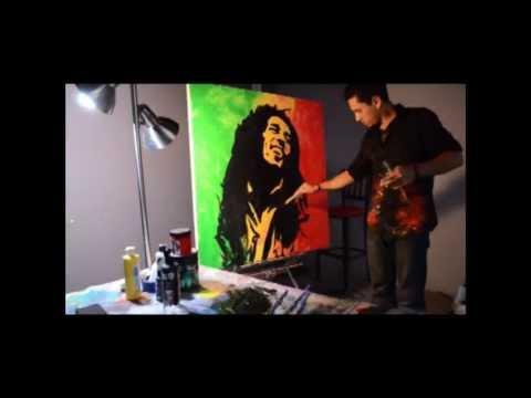 Bob  Marley Speed Painting HD