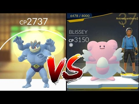 Machamp vs 100%IV Blissey 3000 CP Epic counter, dynamic punch! Pokemon go Gym battle