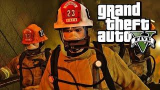 GTA 5 (PC) - Gameplay Walkthrough - Mission #65: The Bureau Raid (Fire Crew) [Gold Medal]