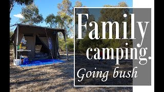 Family camping in Australian scrub!! - first trip with our Oztent #familycamping #oztent