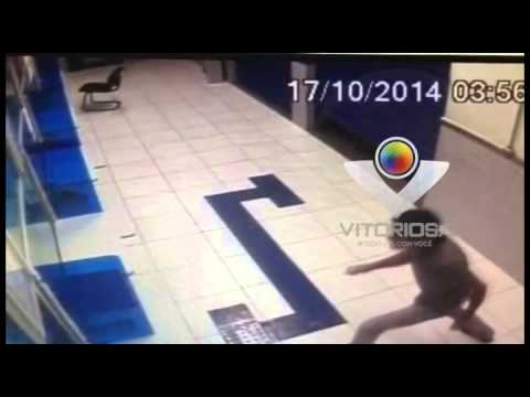 Homens arrombam lotérica, em Araguari, mas não levam nada