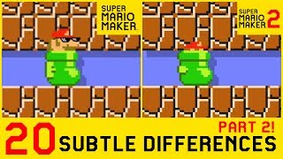 20 Other Subtle Differences between Super Mario Maker 2 and SMM1 (2/4)