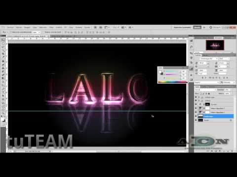 Photoshop Texto luminoso con efecto arcoiris ADNDC/tuTEAM
