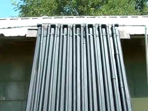 DIY Home Made CIRCULATING Solar Water Heater - YouTube
