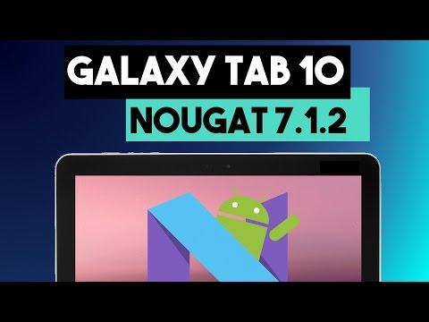 Galaxy Tab 10.1 con Android Nougat 7.1.2 AOSP P7510