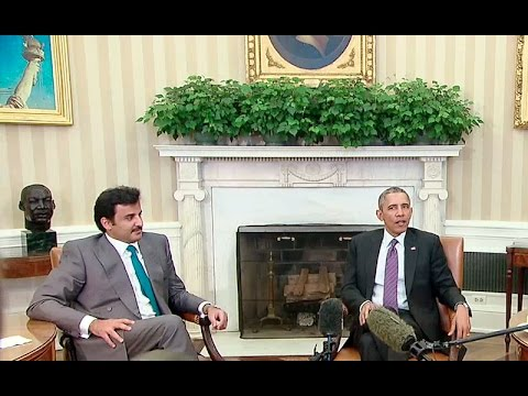 President Obama Meets with The Amir of Qatar