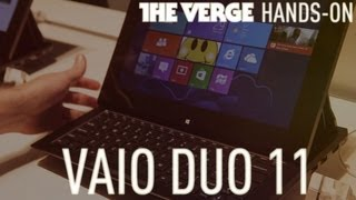 Sony Vaio Duo 11 Windows 8 tablet slider hands-on