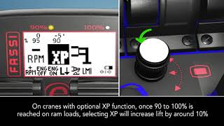 Easy to use: Selecting useful crane functions using the radio remote control