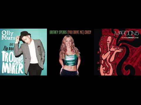 Olly Murs vs. Britney Spears vs. Maroon 5 - Crazy Troublemaker Love