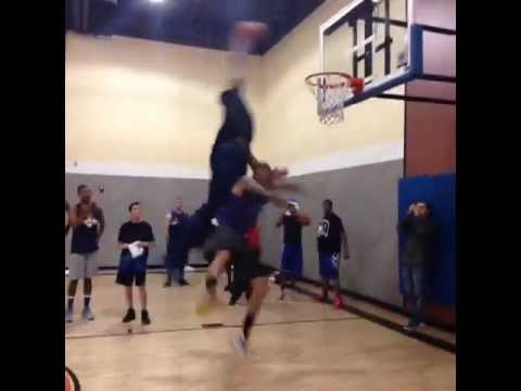 Andre Drummond Dunking on Chris Brown!