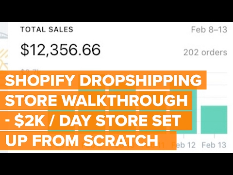 Shopify Drop Ship Store Walkthrough   $2k / Day Store Set Up From Scratch   eCom Dudes