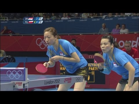 Table Tennis Women's Team First Round - SIN v POL - Full Replay -- London 2012 Olympic Games