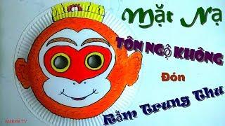 Làm Mặt Nạ Tôn Ngộ Không Đón Rằm Trung Thu - How to Make a Monkey King Mask for Kids