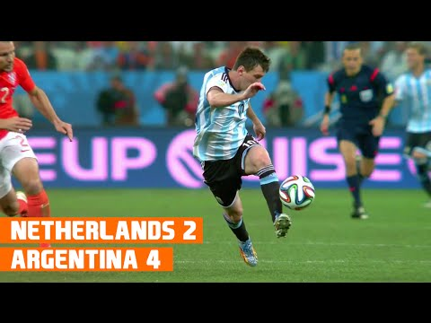 Netherlands vs Argentina (2-4) World Cup 2014 Highlights