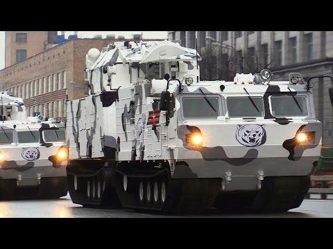 Военная техника на Звенигородском шоссе - (репетиция парада)