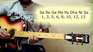 गिटार पर सा रे गा मा पा एवम् संगीत के बुनियादी सुर | How To Play Sa Re Ga Ma Pa On Guitar - L4