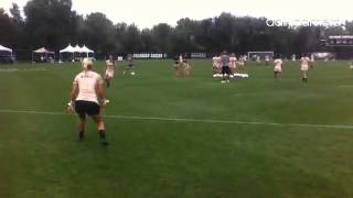 Video: #cubuffs soccer players warm up for game with San Francisco