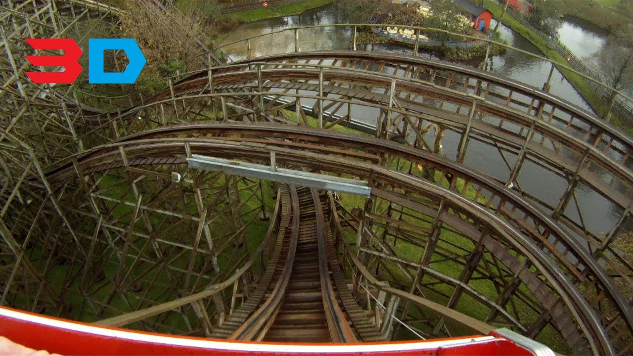 Megafobia 3d front seat on ride hd pov oakwood theme park The oakwood