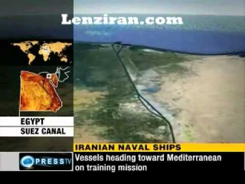 Iranian navy vessels crossed Suez Canal