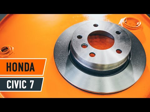 How to replace front brake discs and brake pads onHONDA CIVIC 7 TUTORIAL   AUTODOC