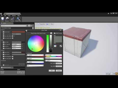 [UE4] SciFi Crates Pack 1 - Master material demo