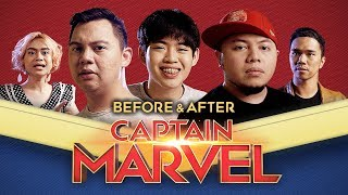 BEFORE amp  AFTER CAPTAIN MARVEL