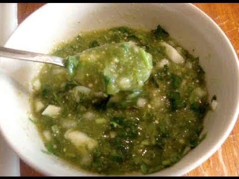 Una rica salsa verde para los tacos de canasta - La receta d..