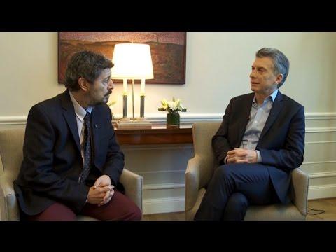 Reviví el mano a mano de Canal 7 con el presidente Mauricio Macri