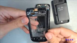 Nokia 309 disassembly| & How to change touchscreen & repair