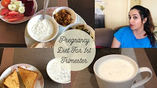 My Indian Diet For First Trimester | Pregnancy Healthy Diet | प्रेग्नन्सी में क्या खायें?