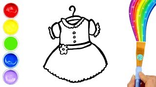 Coloring Baby Girl Dress for Kids and Drawing Video for Toddlers | Creative World