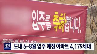투/도내 6-8월 입주 예정 아파트 4,179세대