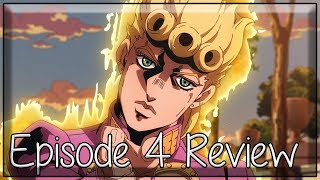 From the Shadows - JoJo's Bizarre Adventure Golden Wind Episode 4 Anime Review