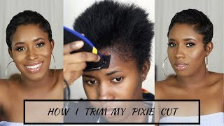 How I Cut, Relax & Style My Short Hair At Home|| Pixie Cut