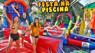 FIZEMOS UMA FESTA NA PISCINA ÉPICA COM CRIANÇAS! (INCRÍVEL) - KIDS FUN