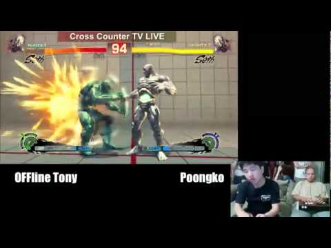 SSF4 AE: Poongko (Seth) vs Online Tony (Seth) - Crosscounter stream (Pre Evo 2011)