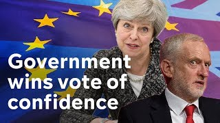 Government wins no confidence vote amid Brexit chaos|#BREXIT