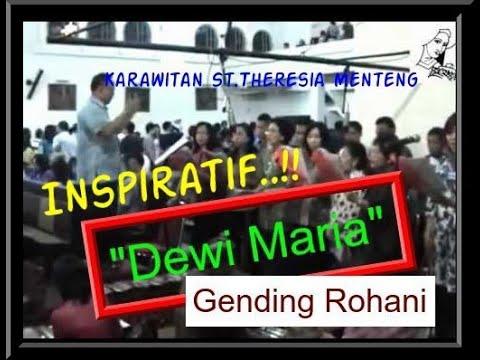 dewi Maria--(gending Rohani) Oleh: Karawitan St.theresia Menteng (2011) video