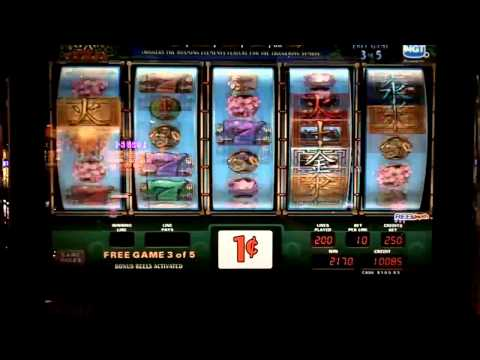 WuXing slot machine bonus win at Sands Casino