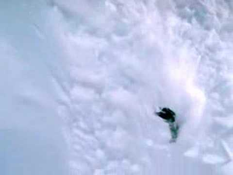 Crazy Snowboard run down an Avalanche in New Zealand