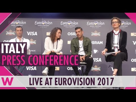 "Italy Press Conference — Francesco Gabbani ""Occidentali's Karma"" Eurovision 2017 