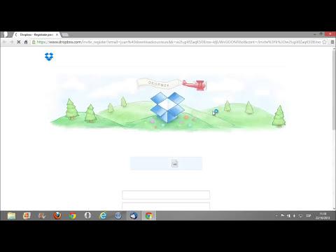 Como compartir una carpeta y archivos con Dropbox 2015