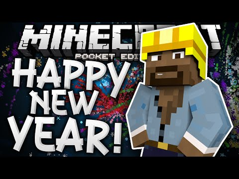 HAPPY NEW YEAR 2016!!! - Fireworks Mod Review & Discussion - Minecraft PE (Pocket Edition)