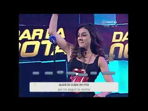 Natalí Justiniano interpretó una canción de Thalia