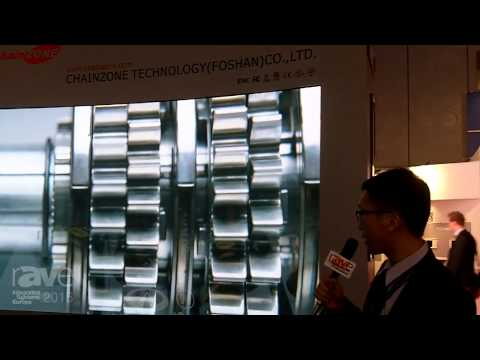 ISE 2015: Chainzone Technology Exhibits Indoor LED Display