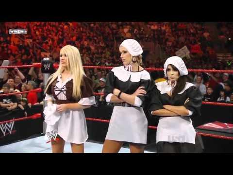 WWE Raw Michelle Mccool & Layla & Jillian Vs Melina & Kelly Kelly & Mickie James